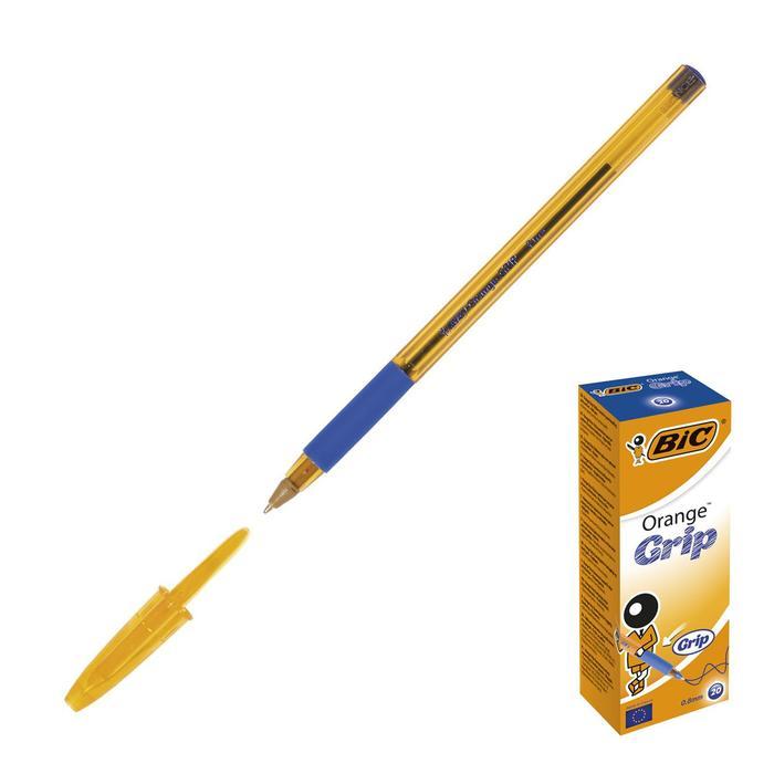 Ручка шариковая BIC Orangе Grip, чернила синие, узел 0.7мм, одноразовая