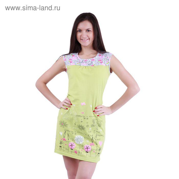 """Сорочка женская ночная """"Цветочные мотивы"""" Р307352, рост 158-164 см, р-р 50"""