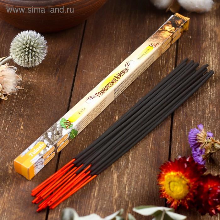 Благовония четырехгранник Sarathi Frank-Myrr Ладан-мирра 8 палочек в упаковке