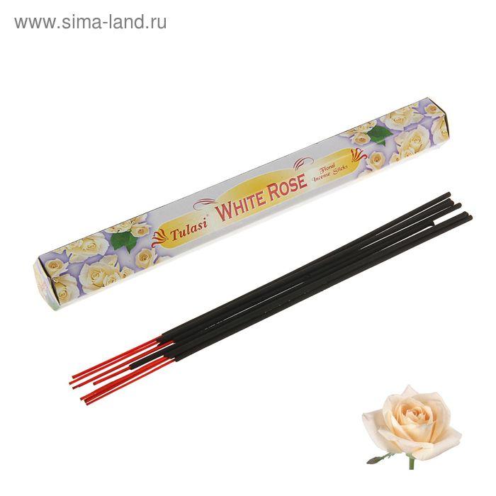 Благовония шестигранник Sarathi White Rose Белая роза 20 палочек в упаковке