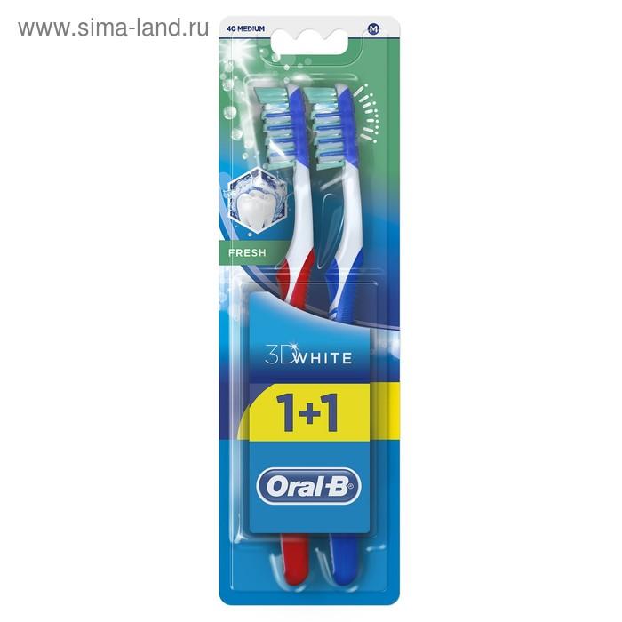 """Зубная щетка Oral-B ProExpert 3D """"Свежесть"""", 40 средней жесткости + 1 шт."""