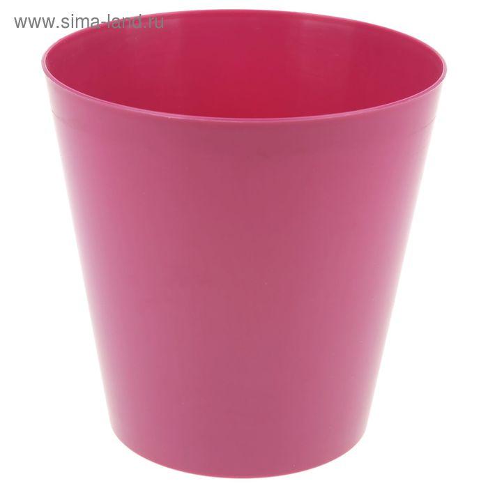 """Кашпо 17 см """"Вулкано"""", цвет розовый"""