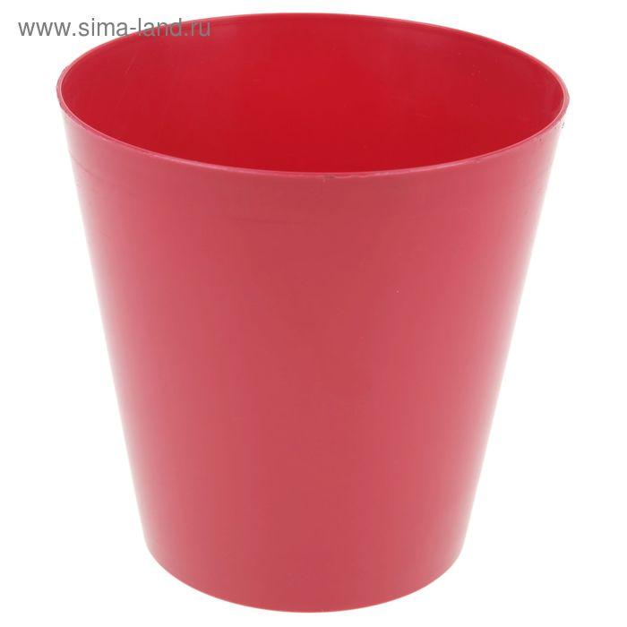 """Кашпо d=15 см """"Вулкано"""", цвет ягодный"""