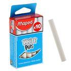 """Набор мелков школьных белых 10 штук White'Peps, круглые, специальная формула """"без грязи"""""""