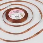 Лента атласная, 6мм, 23±1м, №30, цвет коричневый
