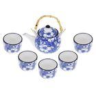 """Набор для чайной церемонии """"Цветущая полянка"""", 6 предметов: чайник 550 мл, чашки 150 мл"""