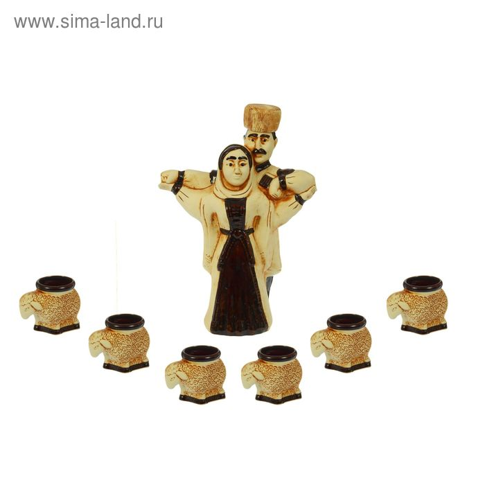 """Штоф с рюмками """"Лезгинка"""" 7 предметов, 0,7 л"""
