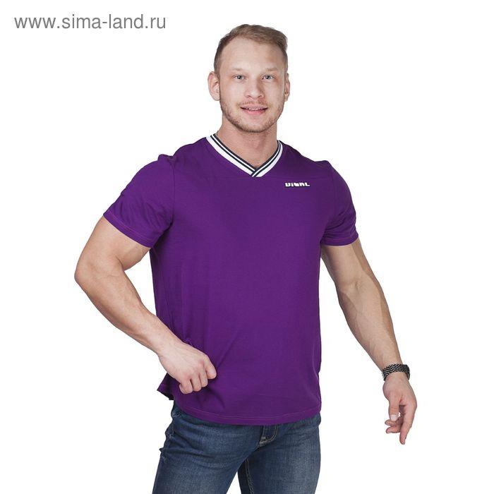 Футболка мужская Р808176 фиолетовый, рост 182-188 см, р-р 56