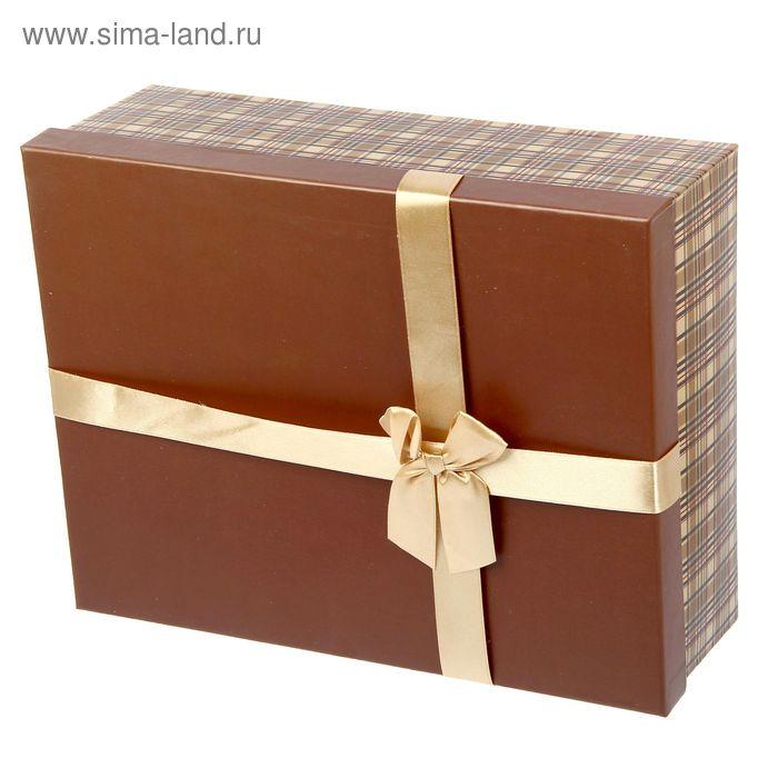 """Коробка """"Коричневая клеточка"""" 31 х 23 х 10 см"""