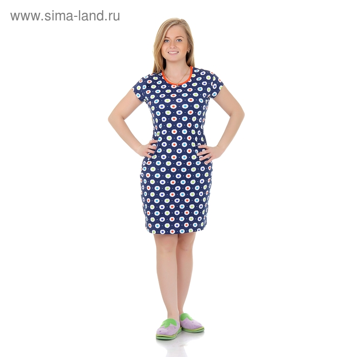 Туника женская Р808121 синий, рост 170-176 см, р-р 54