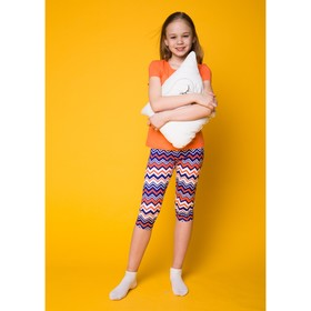 Комплект для девочки (футболка+капри), рост 146-152 см (36), цвет коралл Р207777_Д