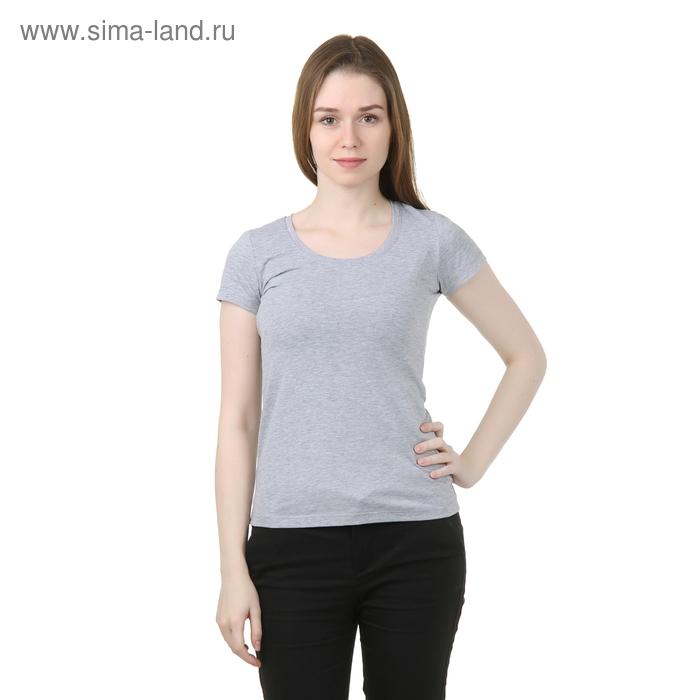 Футболка женская, цвет серый меланж, размер 52 (XXL) (арт. Б125)