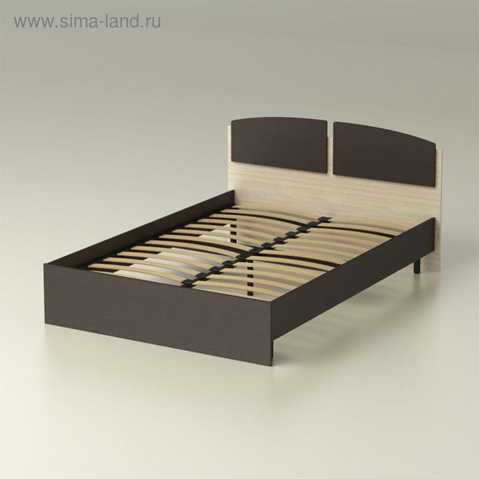"""Кровать 140 с орт.основанием """"Румба"""" (1468х780х2032) - венге/ дуб млечный"""