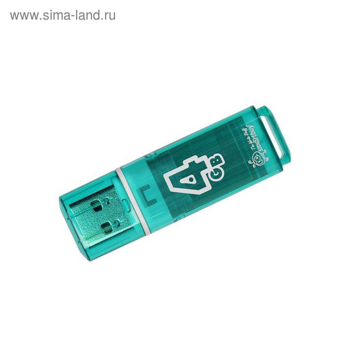 USB-флешка Smartbuy 4Gb Glossy, зелёная