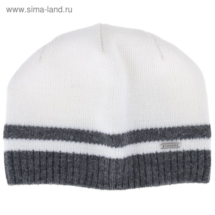 """Шапка мужская """"НИЛ"""" демисезонная, размер 56-58, цвет св-серый, белый 590019"""