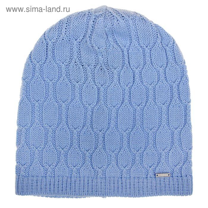 """Шапка женская """"МИРРА"""" демисезонная, размер 56-58, цвет голубой 415099"""
