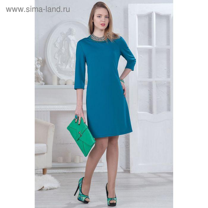 Платье женское 4512, размер 48, рост 164 см, цвет бирюзовый
