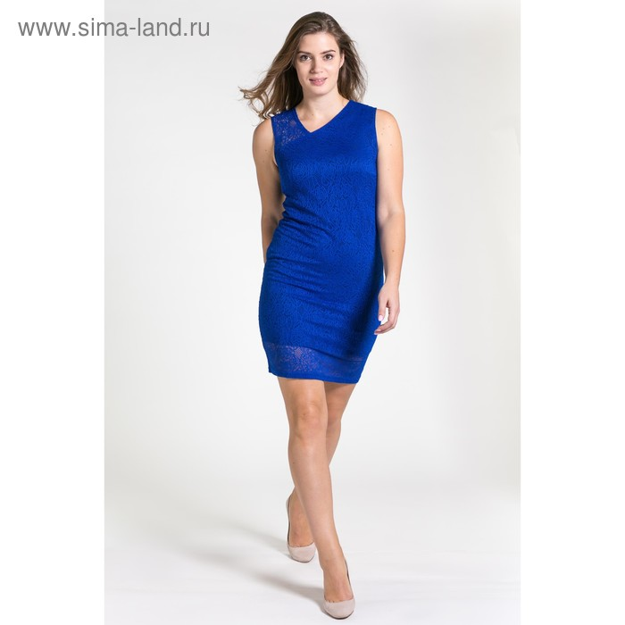 Платье женское 4501а, размер 46, рост 164 см, цвет синий