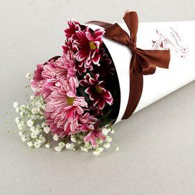 """Конус для цветов """"Жар-птица"""" белый гладкий, 14 х 26 см"""
