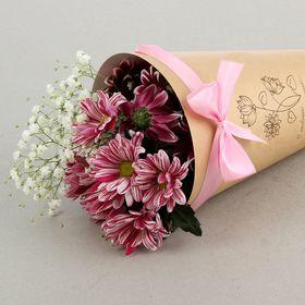 """Конус для цветов """"Волшебство"""" крафт гладкий, 14 х 26 см"""