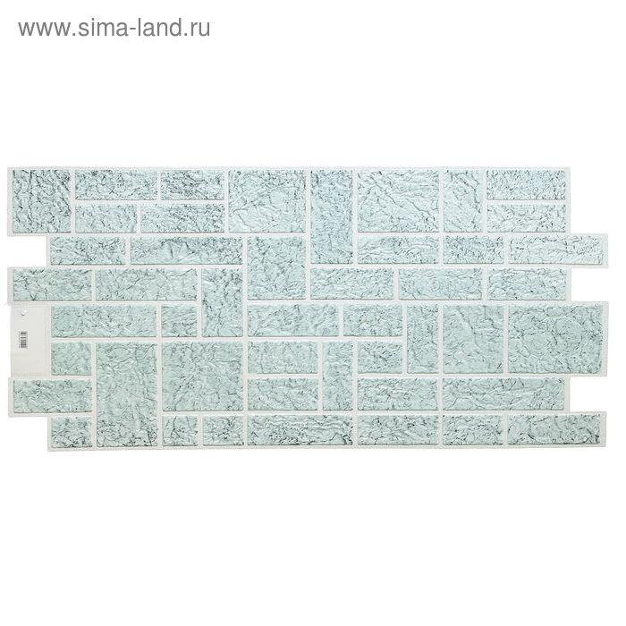 Панель ПВХ Камень пиленый зеленый 980*498