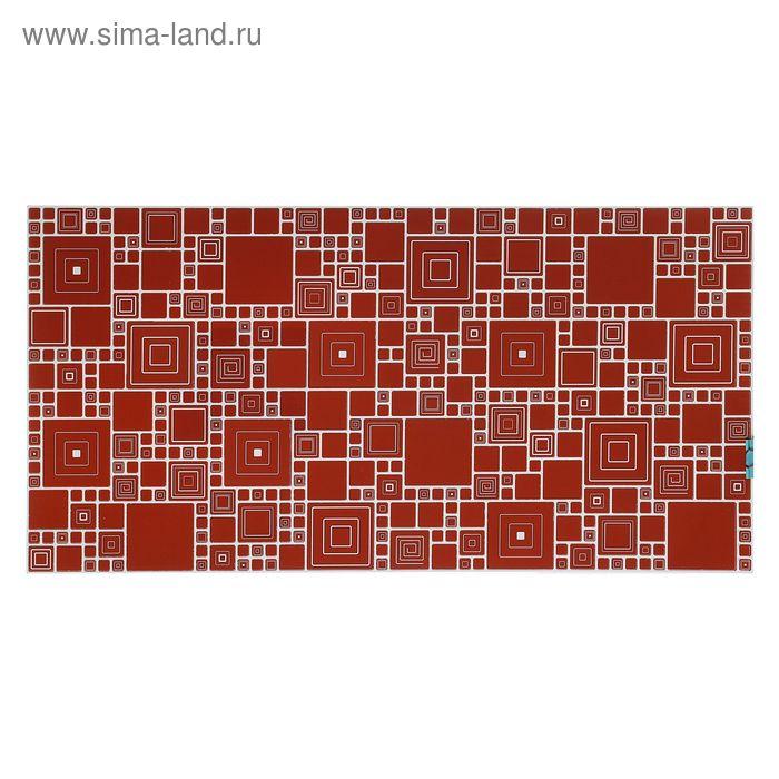 Панель ПВХ мозаика «Палитра кармин»