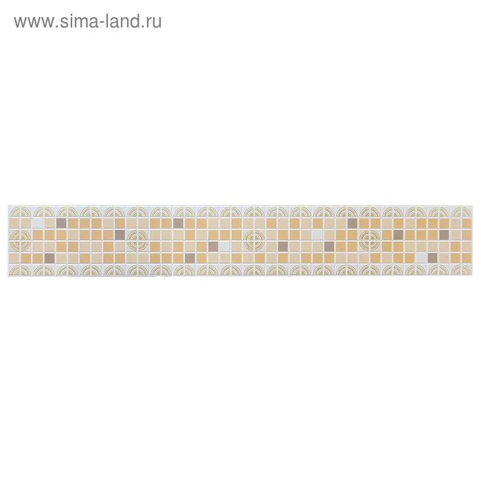 Панель ПВХ фриз «Ассорти коричневое»