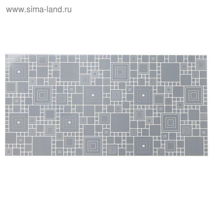 Панель ПВХ мозаика «Палитра грифель»