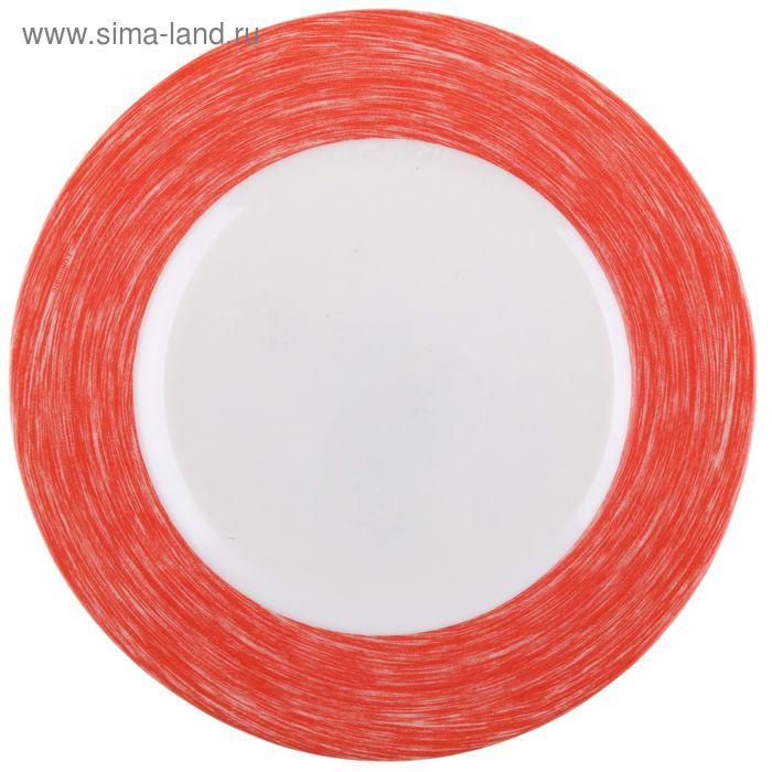 Тарелка десертная 19 см Color Days, цвет красный