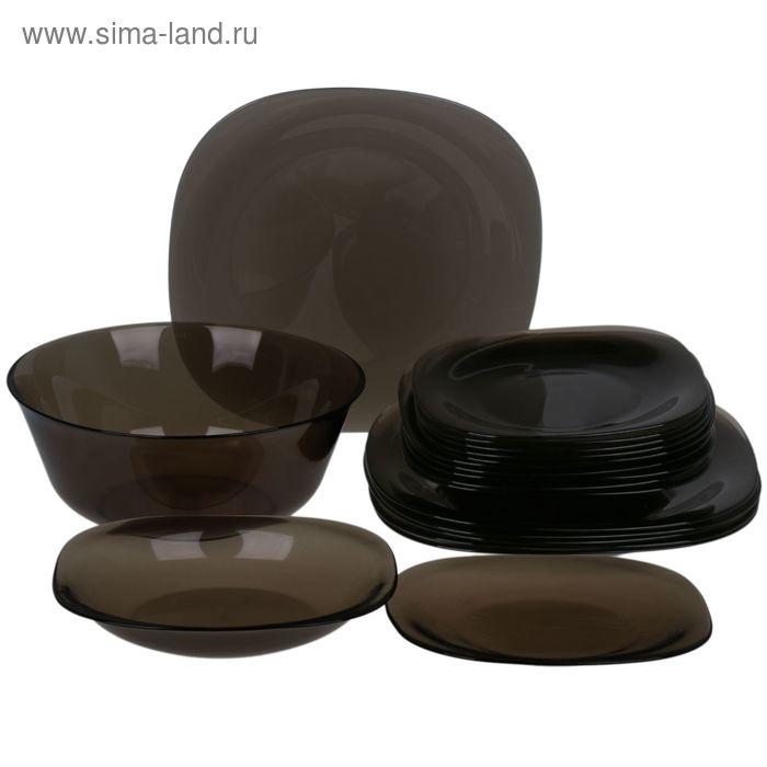 """Набор столовый """"Карин эклипс"""", 19 предметов: тарелка мелкая d=19,5 см (6 шт), d=25 см (6 шт), тарелка глубокая d=20 см (6 шт), салатник d=27 см (1 шт)"""