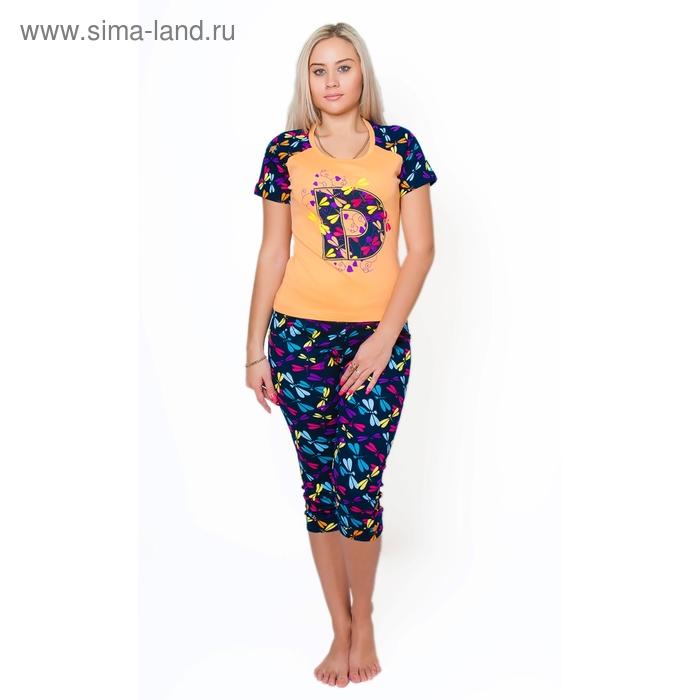 Комплект женский (футболка, бриджи) ТК-932 МИКС, р-р 48