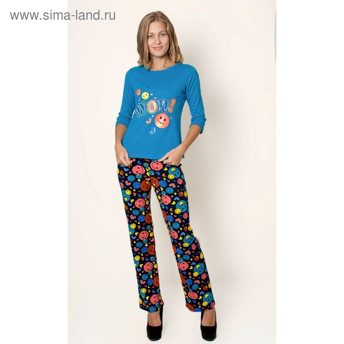Комплект женский (фуфайка, брюки) ТК-912К МИКС, р-р 48