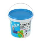 Краска для потолков и стен водоэмульсионная Радуга 29, 1,3 кг, белая матовая экономичная