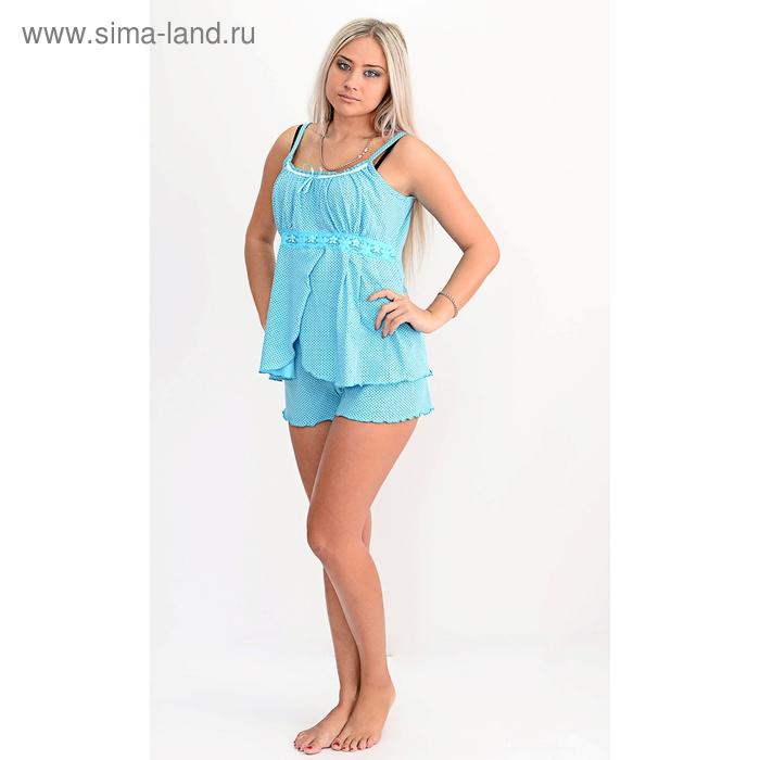 Пижама женская (топ, шорты) П-18 МИКС, р-р 54
