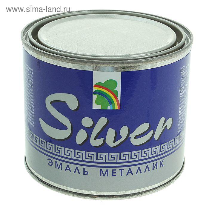 Эмаль декоративная акриловая перламутровая под серебро Р-117, 0,45 л, металлик SILVER