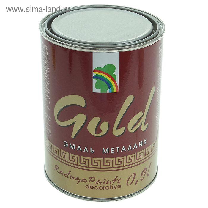Эмаль декоративная акриловая перламутровая под золото Р-117, 0,9 л, металлик GOLD