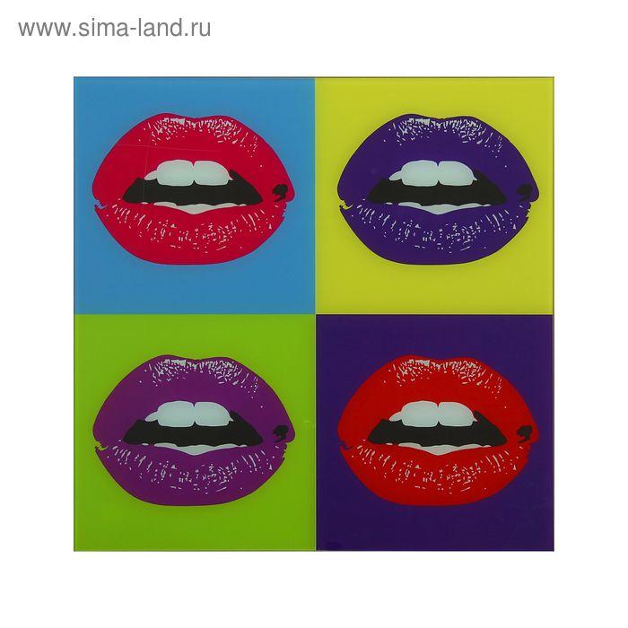 """Картина """"Разноцветные губы"""""""