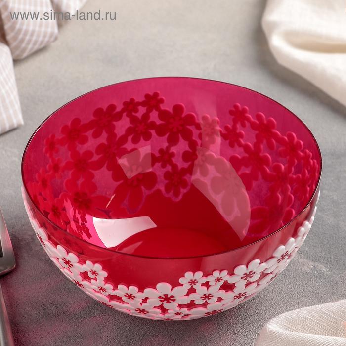 """Салатник 1,2 л """"Дольче Вита. Люкс"""", цвет красный"""