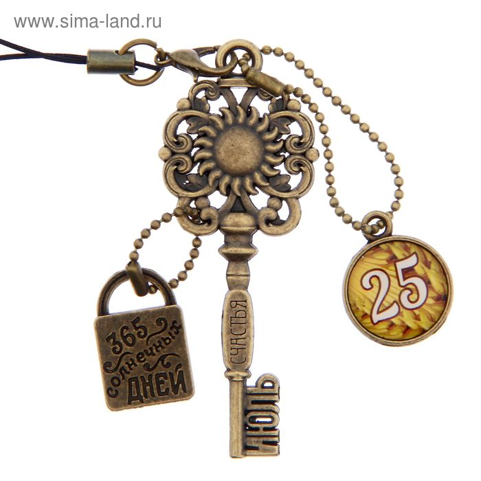 """Ключ сувенирный """"25 Июля"""", серия 365 дней"""