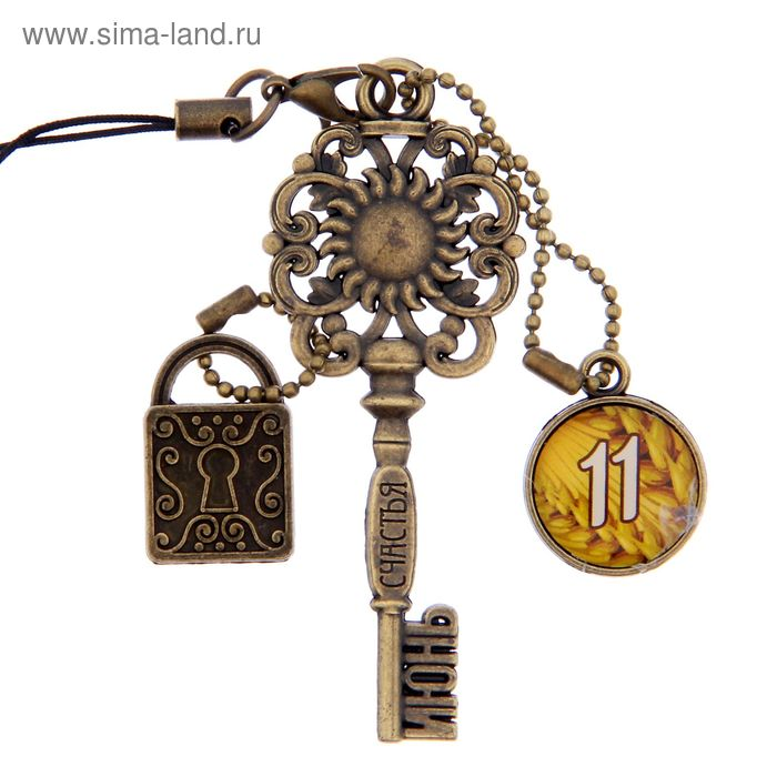 """Ключ сувенирный """"11 Июня"""", серия 365 дней"""