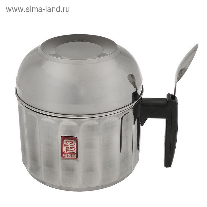 Термос 1.4 л, суповой, тарелка + ложка, держит тепло 4 ч, 17х14х14 см