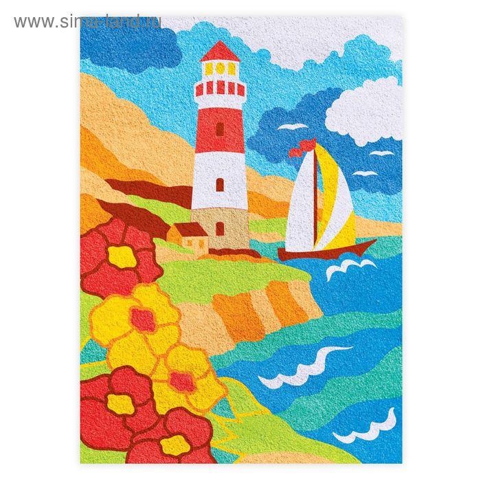"""Фреска песком для взрослых """"Море"""", 10 цветов"""