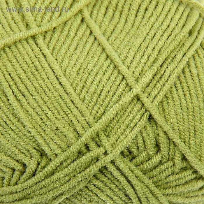 """Пряжа """"Cotton Gold"""" 55% хлопок, 45% акрил, 330м/100гр (385 зеленый)"""