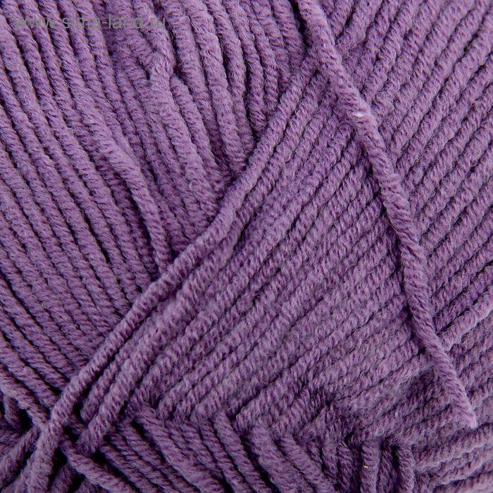 """Пряжа """"Cotton Gold"""" 55% хлопок, 45% акрил, 330м/100гр (616 фиолетовый)"""
