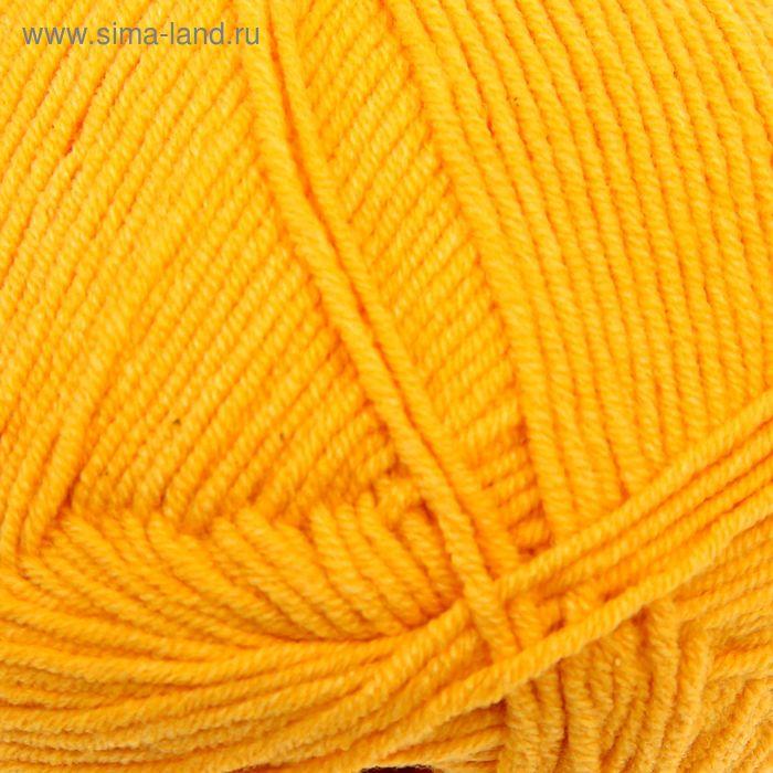 "Пряжа ""Cotton Gold"" 55% хлопок, 45% акрил, 330м/100гр (14 темно-желтый)"