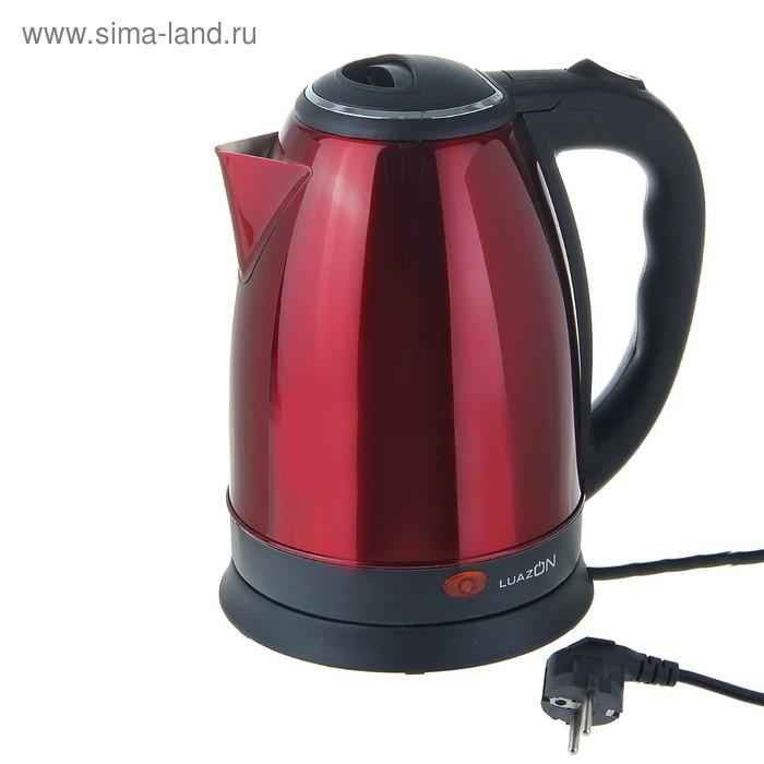 """Электрочайник """"LuazON"""" LSK-1802, 1500W, 1,8л, красный"""