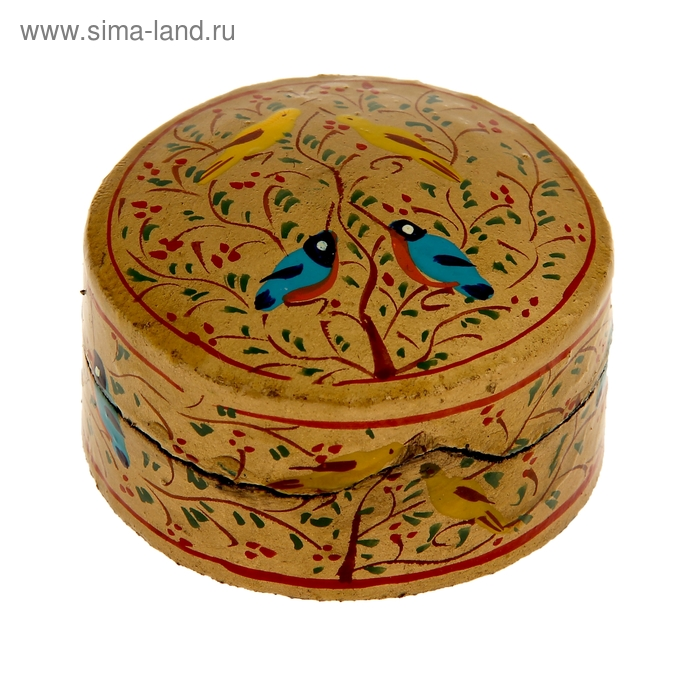 "Шкатулка ""Соловьи"" папье-маше"