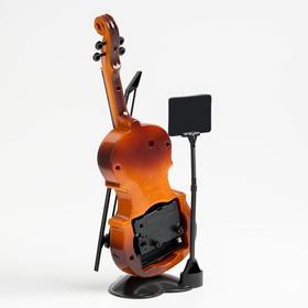 Будильник серия Музыка. Скрипка с пюпитром 10*27см микс