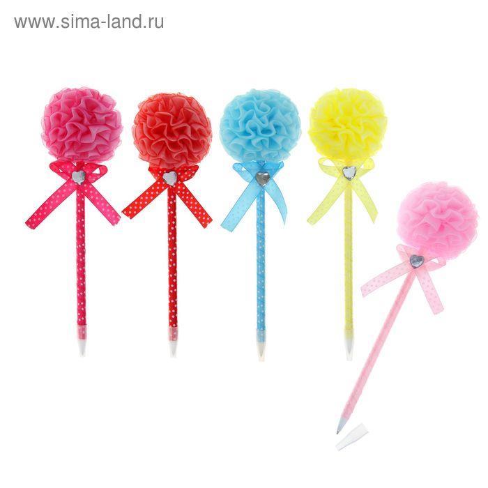 Ручка шариковая-прикол Бант МИКС