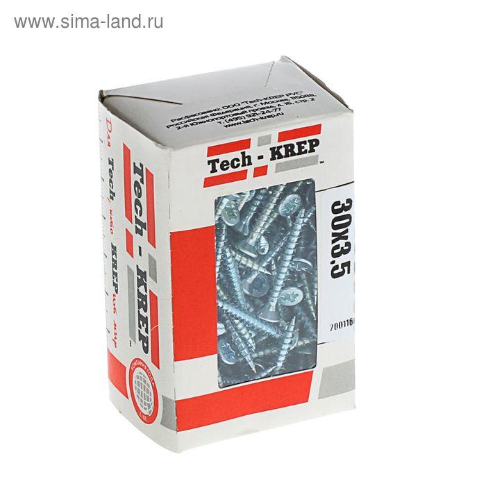 Саморезы универсальные TECH-KREP, 3.5х30 мм, цинк, потай, 200 шт.